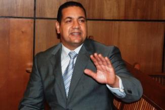 """Oscar Ezequiel Rodríguez Cruz, presidente del movimiento político """"Renacer con Papá"""" en apoyo al ex presidente Hipólito Mejía"""