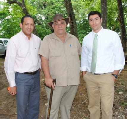 Víctor Hilario, Fausto Gómez y José Francisco Pérez