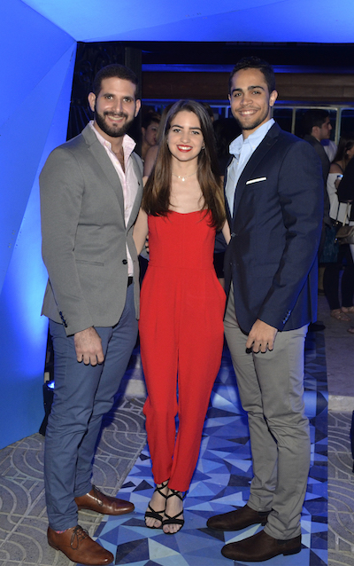 David Miladeh, Karla Bergés y Joan Díaz