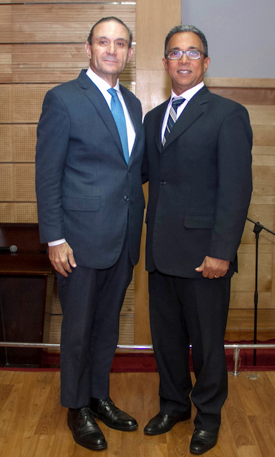 Lázaro Arias  y Nelson Hahn