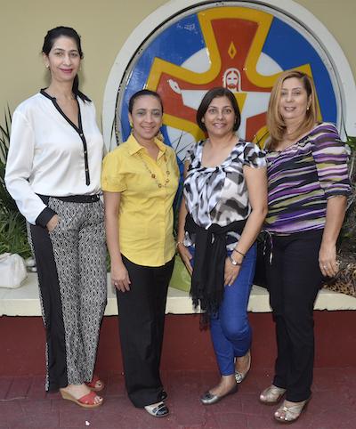 Perla Rivas, Elodia De los Santos, Yolanda Melgen y Sonia Encarnación