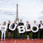 Familia de campeones de tenis de Hublot en París