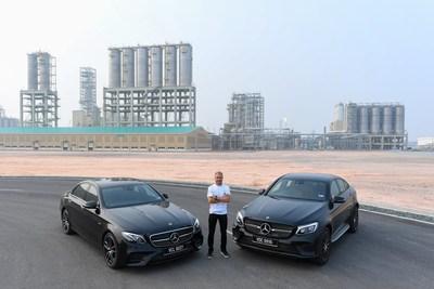Valtteri Bottas, piloto de Mercedes-AMG PETRONAS Motorsport, visita el Complejo Integrado de Pengerang antes del Grand Prix de Singapur
